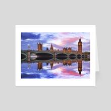 London - Art Card by Michael Walsh