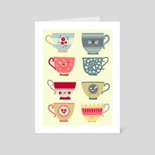 Tea Cups - Art Card by Nic Squirrell