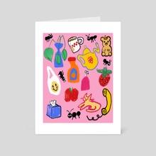 bedroom - Art Card by Orin Dee