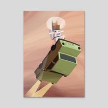 Laika - Acrylic by Renaud Forestié