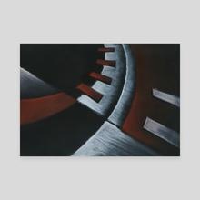 abstract piano - Canvas by Krzysztof Wielkopolski
