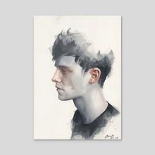 Small watercolor #11 - Acrylic by Miroslav Zgabaj