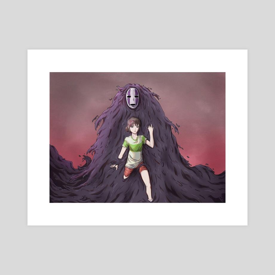 Chihiro X No Face Spirited Away An Art Print By Luiso Moraes Inprnt