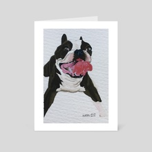 Smiley Doggo - Art Card by Ashley Hills