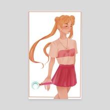 Sailor Moon - Canvas by Hannah Walker