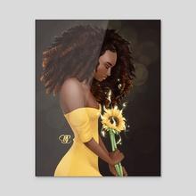 Black Lives Matter - Acrylic by Delphine Cretegny