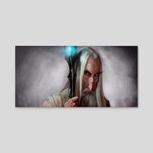 Saruman - Acrylic by Rafael Rivera