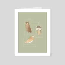 Delivery Owls - Art Card by shannon