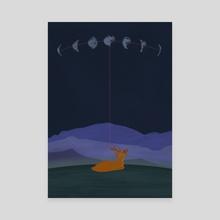 Lunatic deer - Canvas by Ferran Sirvent