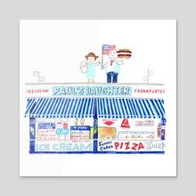 Paul's Daughter, Coney Island - Acrylic by Joel Holland