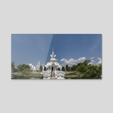 Behind White Temple, Chiang Rai. - Acrylic by Parag Phadnis