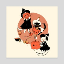 Witch Cats #1 - Canvas by Lottie Jay
