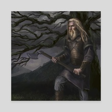 Perun  - Canvas by Olga Demidova