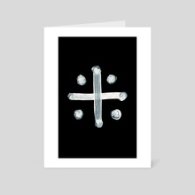 Alchemical Symbols - Distilled Vinegar Two Inverted - Art Card by Wetdryvac WDV