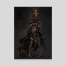 Dark Priest - Canvas by Todd Ulrich
