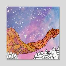 Canyon Night - Acrylic by Liam Johnston