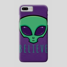 Believe Alien Head - Phone Case by John Schwegel