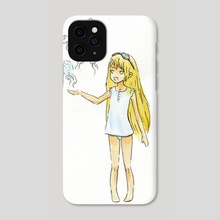Jellyfish Girl - Phone Case by Indré Bankauskaité