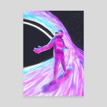Space surfer - Canvas by sai srivatsa