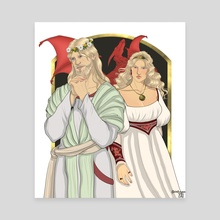 Targaryen Monarchs: Baelor I and Daena - Canvas by chillyravenart