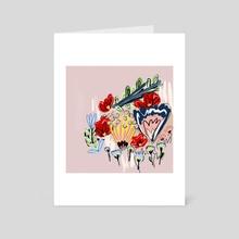 Flowers 5 - Art Card by Phyllis Sosa Lourenço