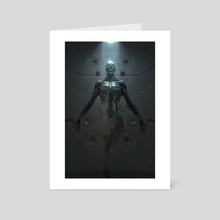 Cyborg Birth - Art Card by Ian Llanas