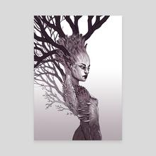 Tree Spirit Queen - Canvas by Serena Archetti