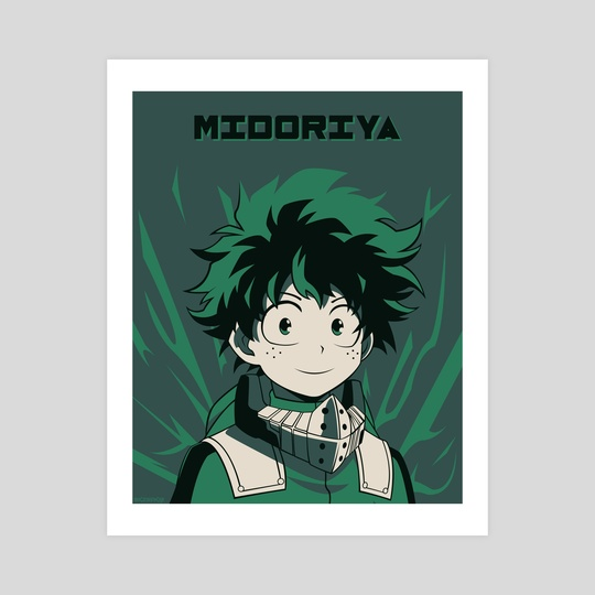 Midoriya Poster by Kazi Sakib