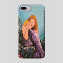 Mermaid Under The Sea - Phone Case by adam santana
