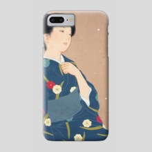Falling plum blossoms - Phone Case by Sai Tamiya