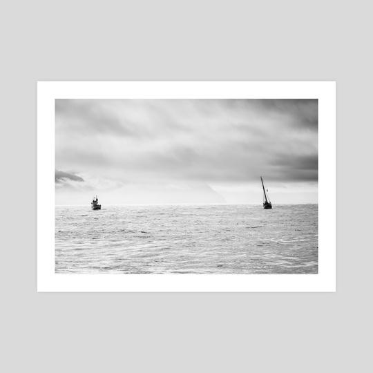 two ships in husavik by Lauren Scornavacca