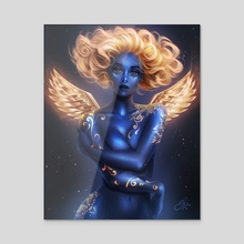 Blue Angel - Acrylic by Sandra Winther