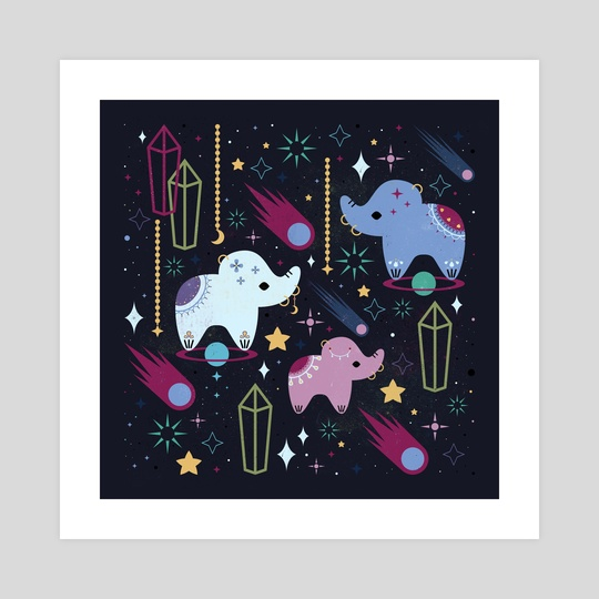Elephants in Space  by Carly Watts
