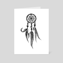 Dream Catcher - Art Card by Carina Clavijo