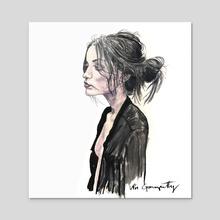 Jenny - Acrylic by Vin Ganapathy