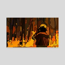 Volunteer Firefighter 5 - Canvas by Jordan de Graaf