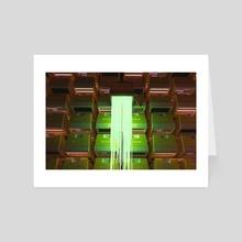 Glitch  - Art Card by fadi qustanteen