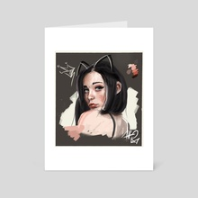 -Girl Portrait- 01 - Art Card by Atto Ink