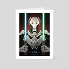 Star Wars Villains - General Grievous - Art Card by Jonathan Lam