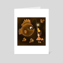 Huge Fish - Art Card by Anastasia Skachko