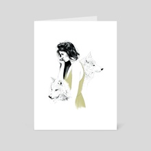 Running With The Wolves - Art Card by Danielle Jones
