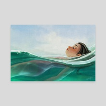Where the currents take me - Canvas by Yaoyao Ma Van As