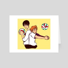 Kageyama and Hinata - haikyuu! - Art Card by Ria Martinez