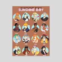 Sunshine Boy Cast - Canvas by Lee Tran