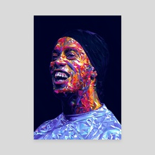 Ronaldinho Illustration  - Canvas by Visuals Artwork