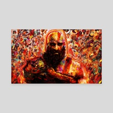 god of war kratos - Canvas by Maxim G