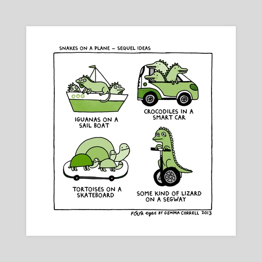 Snakes on a Plane - Sequel Ideas by gemma correll