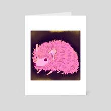 Hedgehog - Art Card by Angelyn Designs