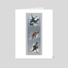 Dragon Cannons - Art Card by Alice  Bruderer