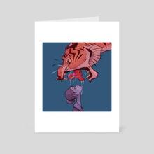 Girl vs Beast - Art Card by Alex Louise H.